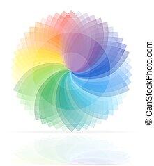 farbować paletę, wektor, ilustracja