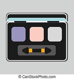 fard paupières, illustration, produits, maquillage, icône, ...