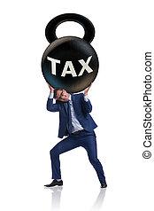 fardeau, concept, impôt, paiements, business
