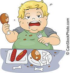 fare baldoria mangiare
