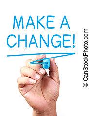 fare, cambiamento