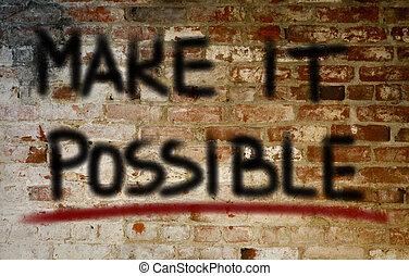fare, concetto, esso, possibile