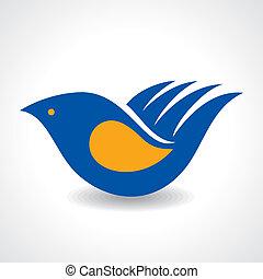 fare, icona, idea-hand, uccello, creativo