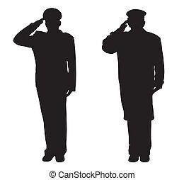 fare il saluto militare