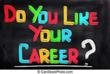 fare, lei, come, tuo, carriera, concetto