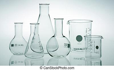 fare ricerche laboratorio, assortito, vetreria