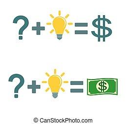 fare, risolvere, soldi., problema