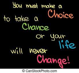 fare, scelta