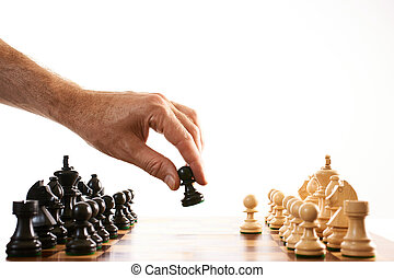 fare, spostare, scacchi, primo