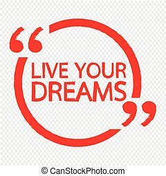 fare un sogno, vivere, disegno, tuo, illustrazione