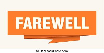 farewell sign. farewell paper origami speech bubble....