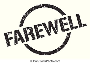 farewell stamp - farewell black round stamp