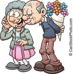 farföräldrar, i kärlek