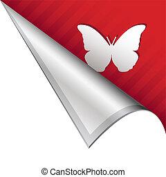farfalla, angolo, linguetta