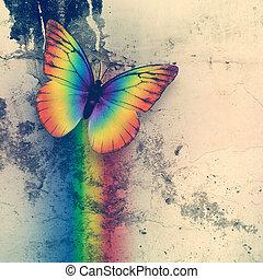 farfalla, arcobaleno