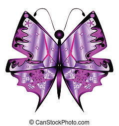 farfalla, astratto