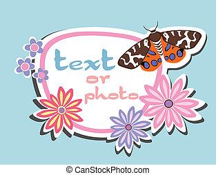 farfalla, cartolina auguri
