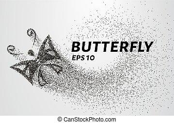 farfalla, cerchi, illustrazione, particles., vettore, points., consiste