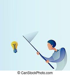 farfalla, concetto, affari, luce, astratto, idea, creativo, bulbo, presa, nuovo, rete, uomo