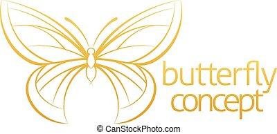 farfalla, concetto astratto