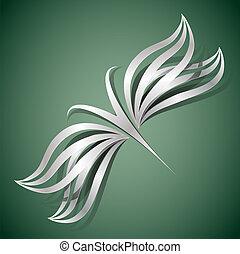 farfalla, concetto, disegno