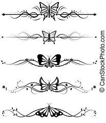 farfalla, divisori, set