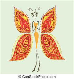 farfalla, fashion.3, donna, -