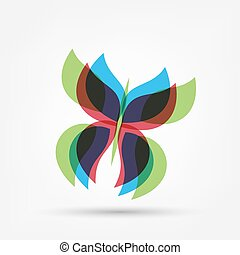farfalla, forma astratta