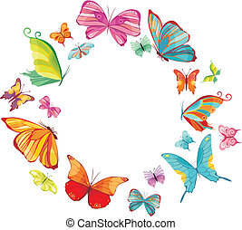 farfalla, grande, set