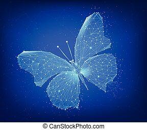 farfalla, hud, blockchain, poligono, banner.