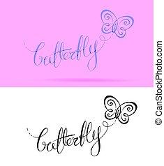 farfalla, iscrizione