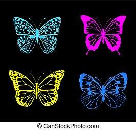 farfalla, neon