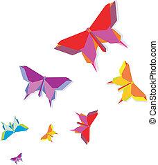farfalla, primavera, origami