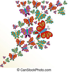 farfalla, primavera, schizzo