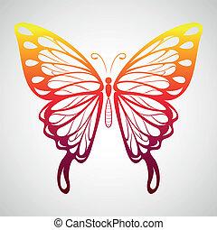 farfalla, rosso