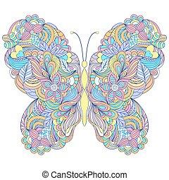 farfalla, sfondo bianco