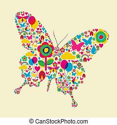 farfalla, tempo primaverile