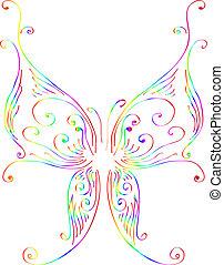 farfalla, variopinto