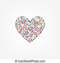 farfalla, volare, cuore