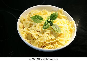 tasted farfalle pasta dish prepared Italian basil