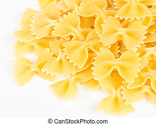 Farfalle pasta, isolated