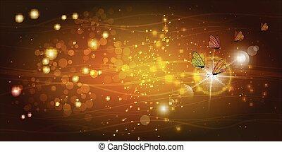 farfalle, trasparente, ali