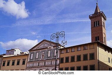 Farinata degli Uberti square, Empoli, Tuscany, Italy