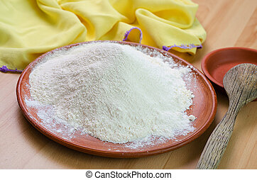farine, plaque