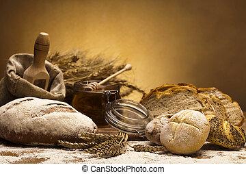 farinha, e, tradicional, pão