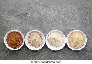 farinha, grão, teff
