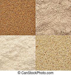 farinha, jogo, grão, teff