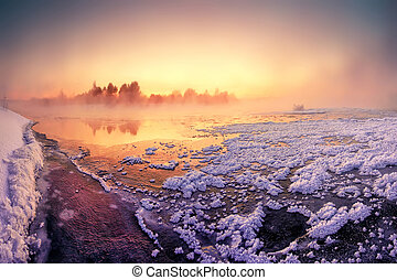 Fariy winter dawn