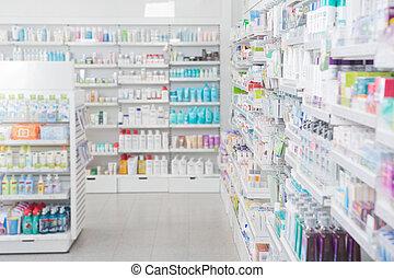 farmácia, interior