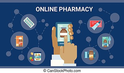 farmácia, online médico, consulta, doutor, cuidado saúde, clínicas, hospitalar, serviço, medicina, rede, bandeira